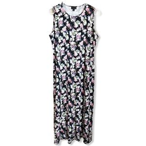J. Jill Wearever Stretch Floral Maxi Dress Medium